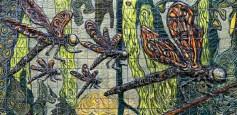 "Xavier Cortada, ""Odonata,"" ceramic, 2013"