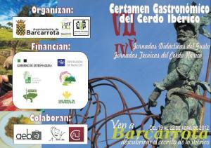 VII Certamen Gastronómico del Cerdo Ibérico Barcarrota 2012 (programa de actividades)