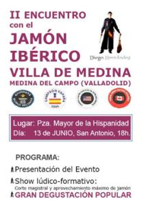 """Abierto el plazo de inscripción para participar en el taller del II Encuentro con el Jamón Ibérico """"Villa de Medina"""" (Valladolid)"""