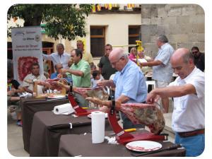 El jamón, su cultura y los concursos de cortadores de jamón amateur