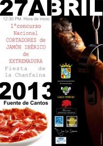 I Concurso Nacional de cortadores de jamón de Extremadura Fiesta de la Chanfaina 2013