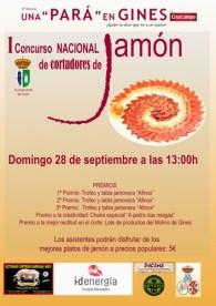 """I Concurso Nacional de Cortadores de Jamón """" Una Pará en Gines  """""""