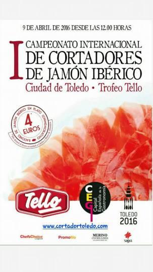 Un total de 8 cortadores de jamón participan en el I Campeonato Internacional de Cortadores de Jamón Ibérico de Toledo