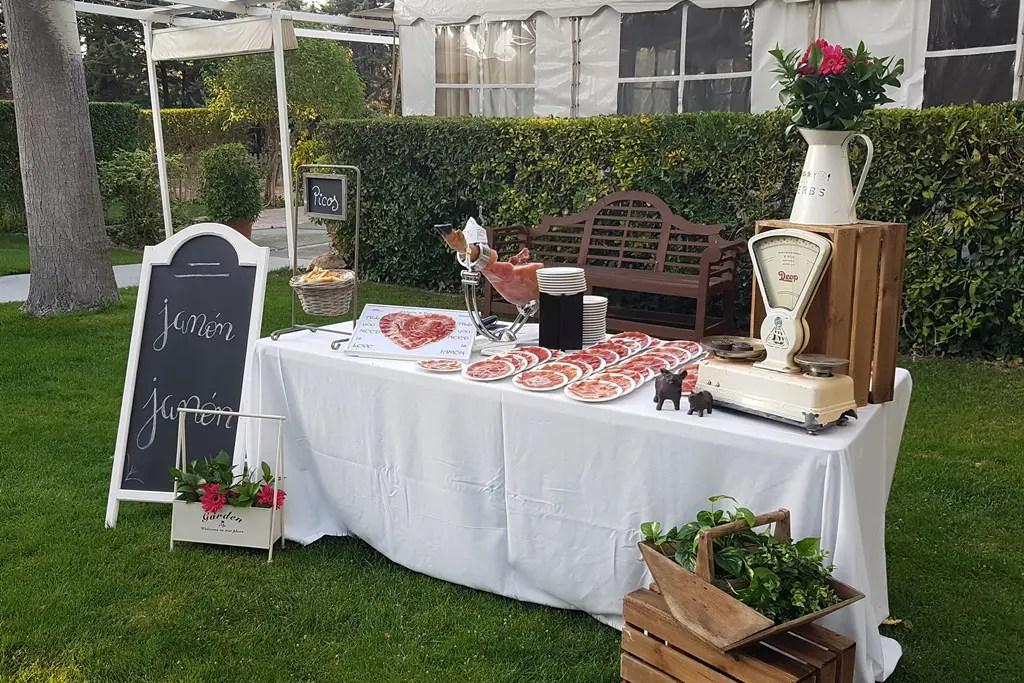 Cortador de jamón profesional para bodas y celebraciones