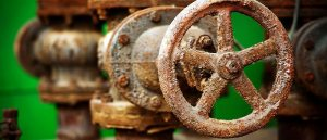 Corrosion of the metal valve
