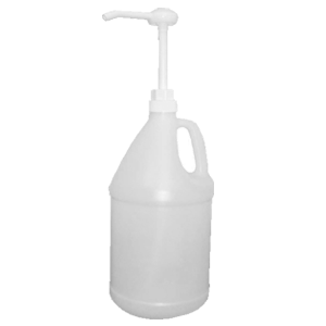 1 Gallon Translucent Bottle with Pump Cap