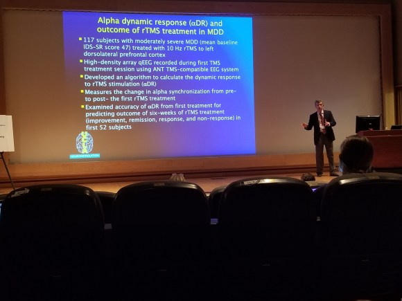 Dr. Andrew Leuchter of UCLA presents research on the use of EEG to temporally guide rTMS treatment for MDD