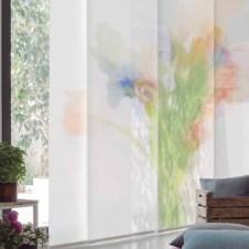 Panel japonés fotográfico flores acuarela Pixel