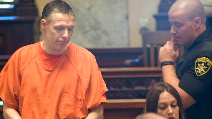 Randy Wilkinson, left, enters Cortland County Court on Tuesday before he was sentenced to the maximum of 25 years to life in prison after being convicted of second-degree murder and two counts of fourth-degree criminal possession of a weapon in the Dec. 20, 2014, death of Terry Walker, 36, of Syracuse.