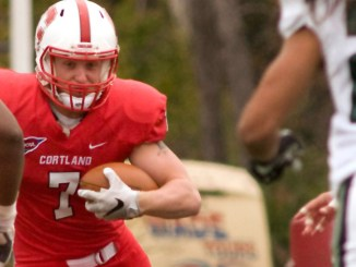 Jon Mannix of SUNY Cortland heads into Saturday's Cortaca Jug hosting of Ithaca as the school's all-time leader in receptions.