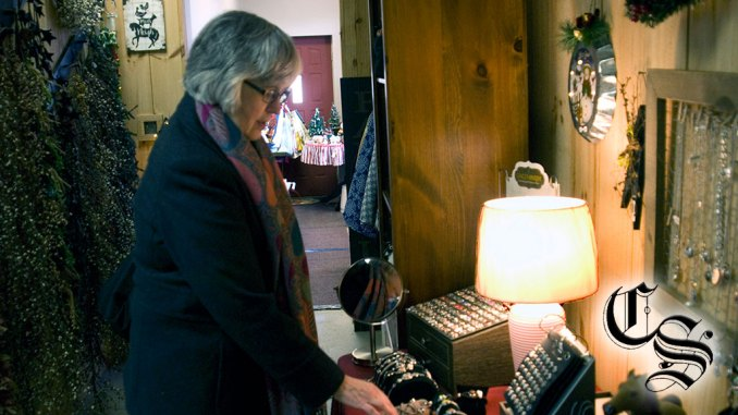Denise Wrinn shopping at Olde Homer House