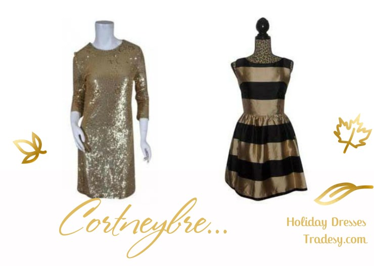 Gold and Black Striped Dress - Kate Spade Tory Burch Gold Poly/Rayon Silk Dress