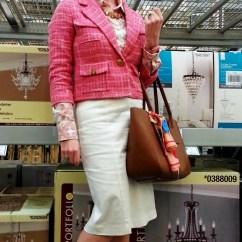 Jacket: Kate Spade Shirt: JCREW Skirt: Worthington Shoes: JCREW Bag: Kate Spade Scarf Accent: CollectionEighteen Necklace: JCREW Earrings: Bealles