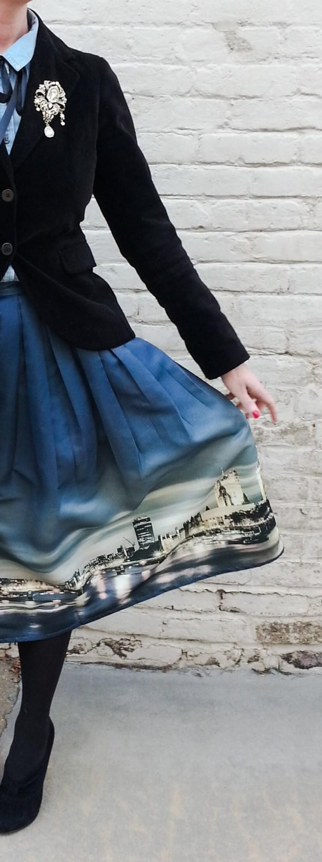 Skirt: Chic Wish Blazer: Banana Republic