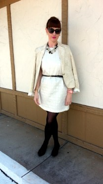 Blazer: George Dress: Xhilaration Necklaces/Earrings/Bracelet: Bealles Watch: Kate Spade Shoes: JCREW