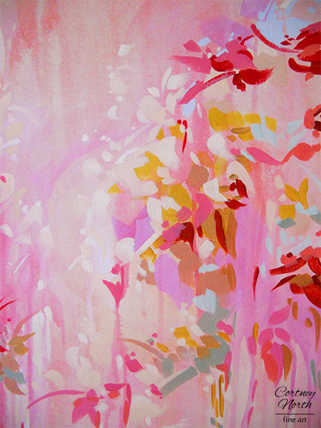 Pink and Red Abstract Close up by Cortney North