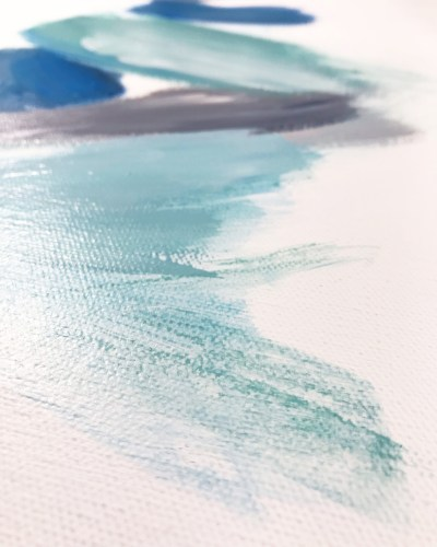 Close Up of New Turquoise Painting in process by Cortney North