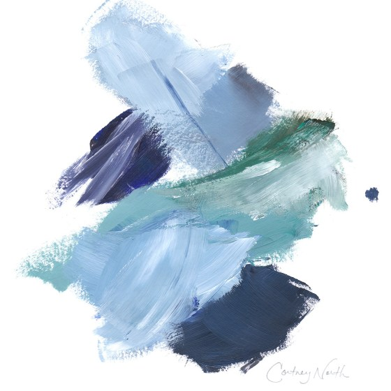 Navy and Teal Composition by Cortney North