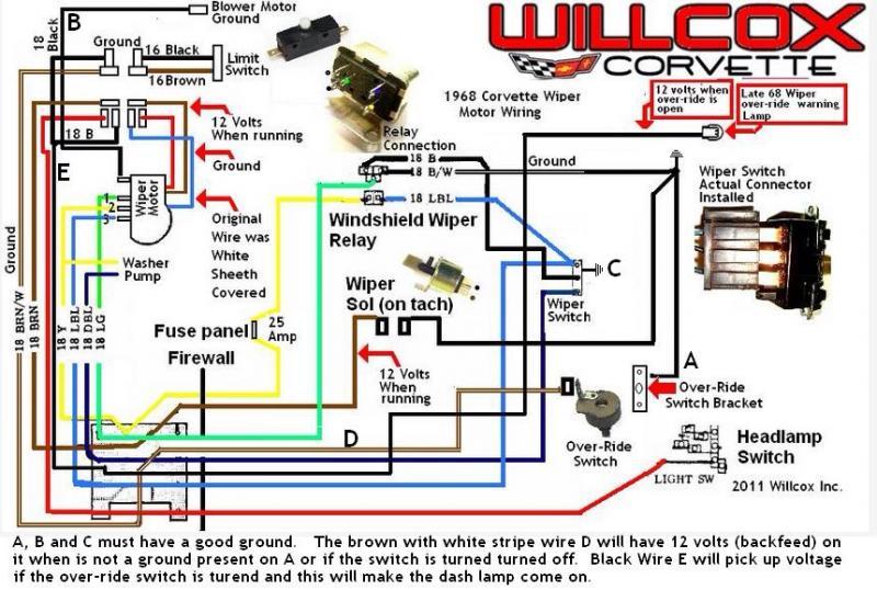 68 Wiper Motor 12v On Tach Sol
