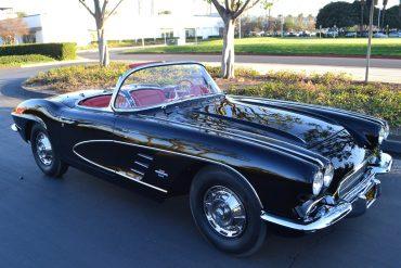1961 chevrolet corvette fuelie coupe black 4