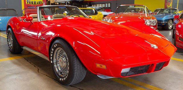 1974 L48 V8 4 Speed Manual Convertible Corvette Red