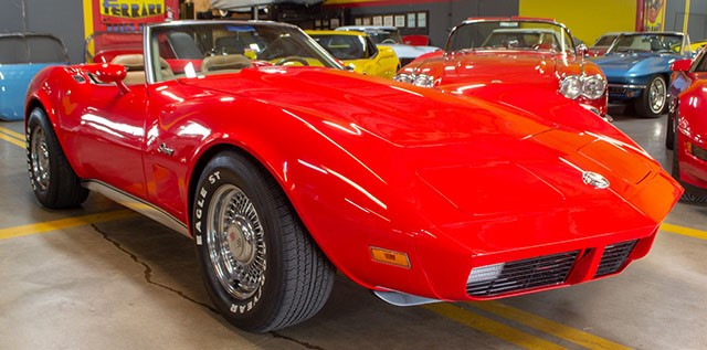 1974 L48 V8 4 Speed Manual Convertible Corvette Red