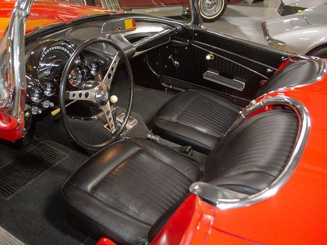 1962 Red Corvette interior