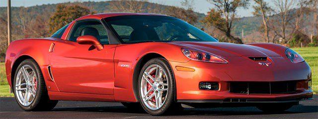2006 Sunset Orange Corvette