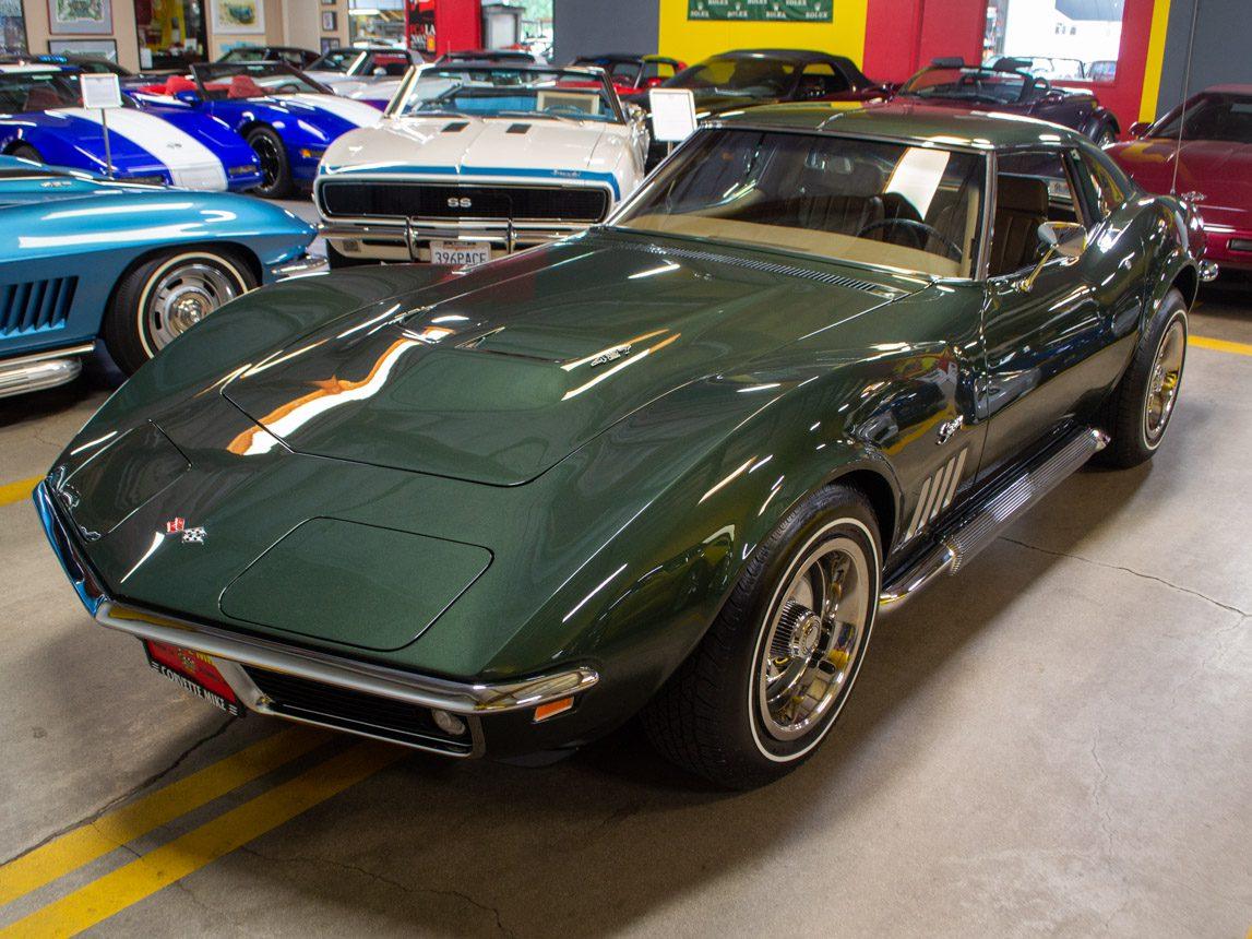 1969 green corvette l71 coupe 0215