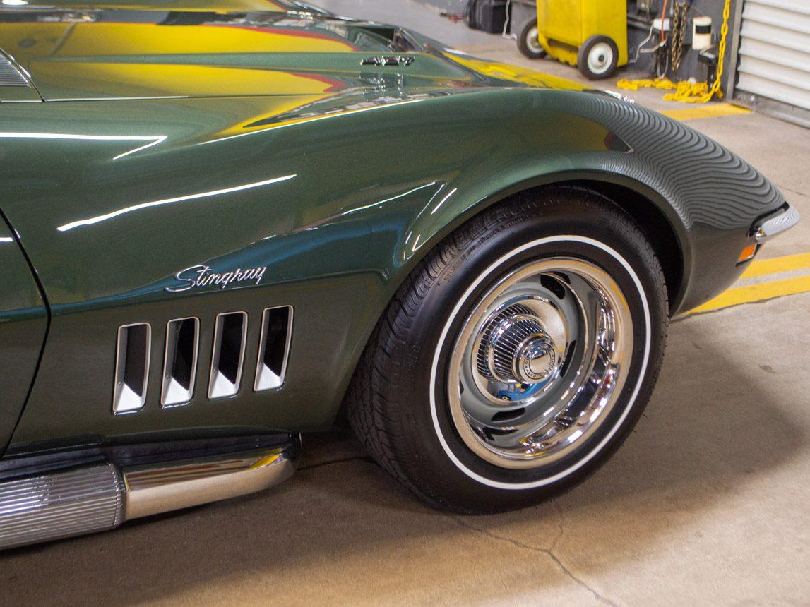 1969 green corvette l71 coupe 0220