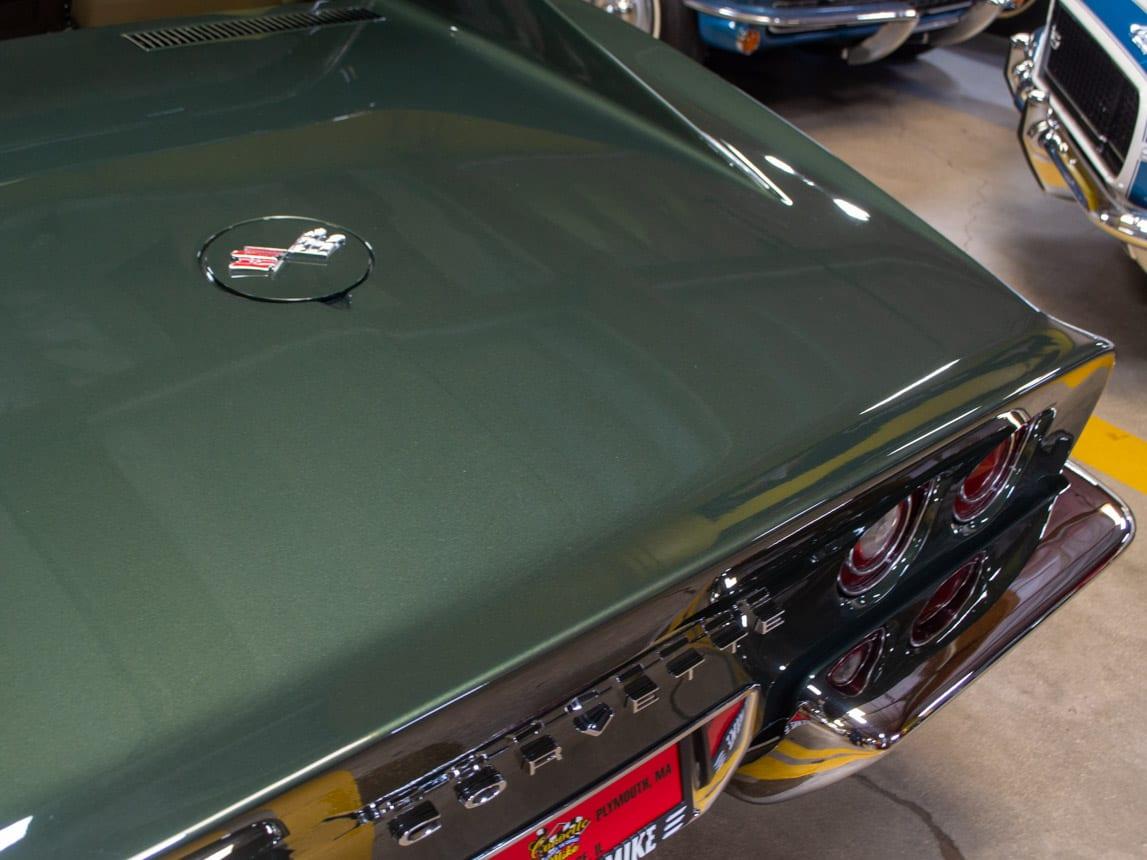 1969 green corvette l71 coupe 0225