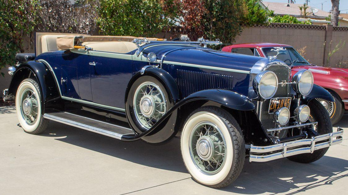1931 blue Buick convertible 0089