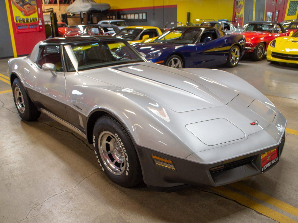 1982 Silver Corvette Coupe