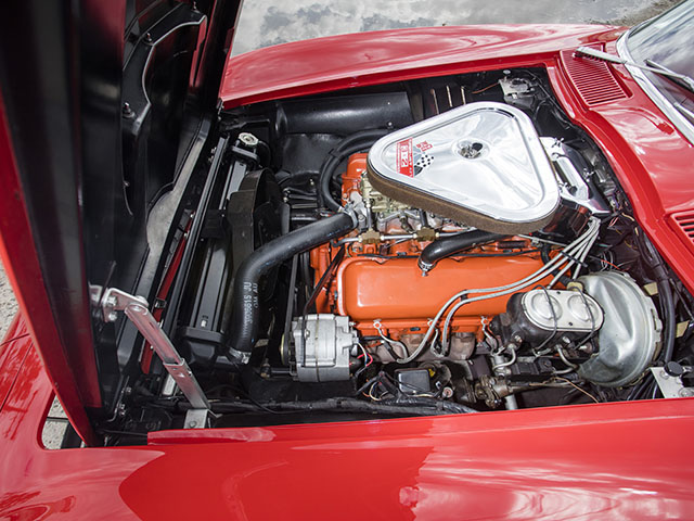 1967 red l71 convertible engine