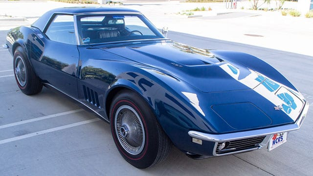 1968 blue corvette l71 convertible externial