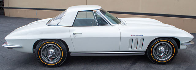1965 white corvette fuelie coming