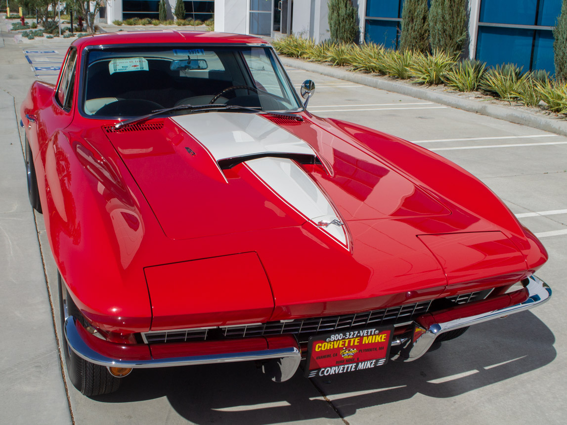 1967 rally red corvette l71 427 435 coupe 0672