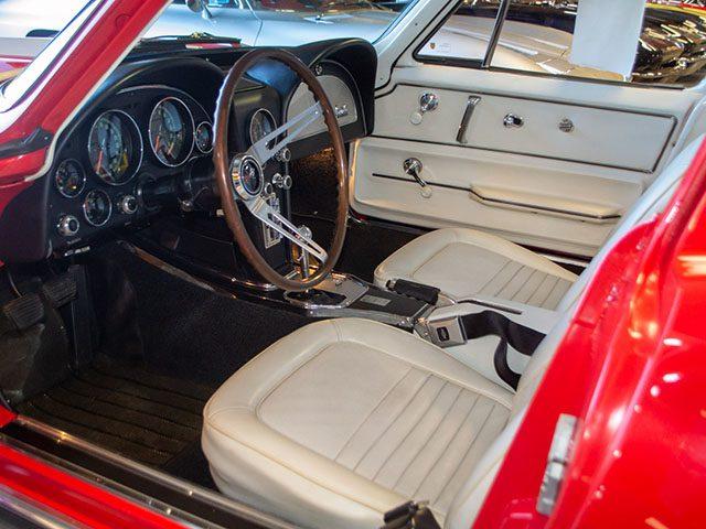 1967 rally red corvette l71 427 435 coupe interior