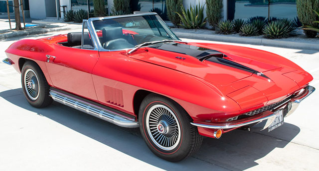 1967 red corvette l36 convertible coming