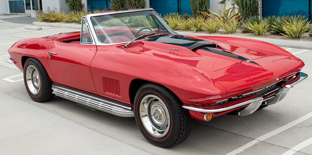 1967 red corvette l36 convertible exterior_1