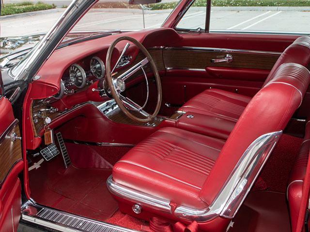 1963 black thunderbird coupe interior