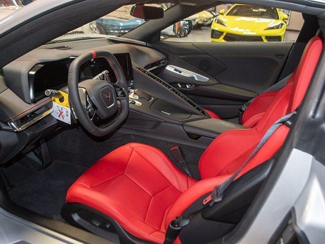 2020 c8 corvette silver red interior 1