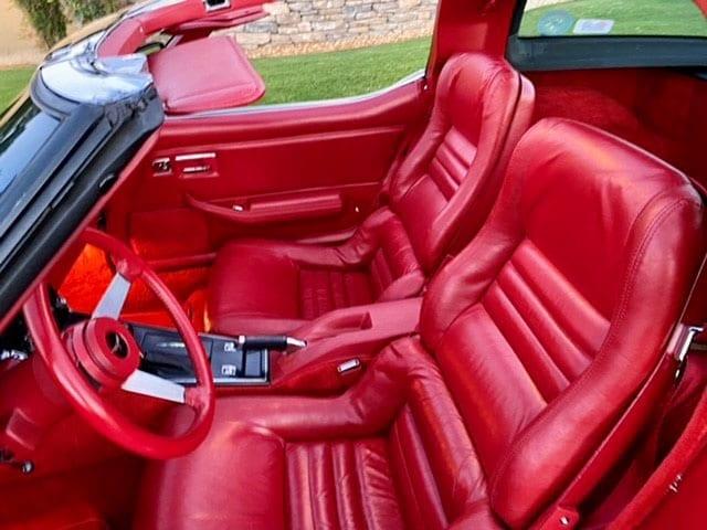 1979 red red c3 corvette coupe interior 1