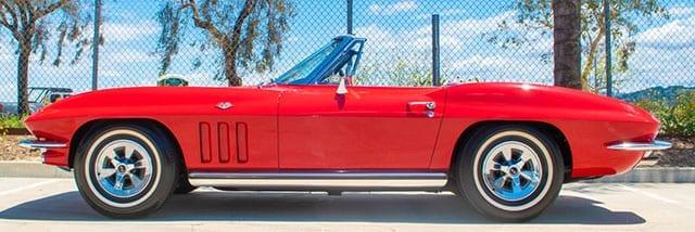 1965 red corvette convertible exterior 1