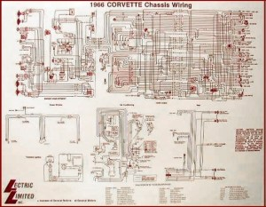 1966 Corvette Diagram, electrical wiring: CorvetteParts