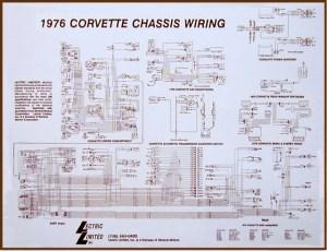 1976 Corvette Diagram, electrical wiring: CorvetteParts