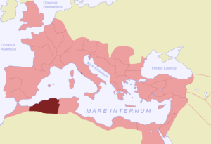Map showing the province of Mauretania Caesariensis (source: ThomasPusch, CC BY-SA 3.0 license).