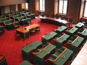 Vergaderzaal van de Eerste Kamer.