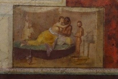 Erotic scene from a Roman bedroom (cubiculum; Museo Nazionale Romano, Rome).
