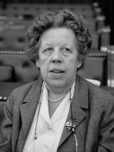 Christine 'Bob' Wttewaall van Stoetwegen, de 'rode freule' (foto: Jac. de Nijs / Anefo - Nationaal Archief, CC BY-SA 3.0-licentie).